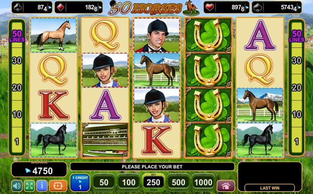 egt slot 50 horses